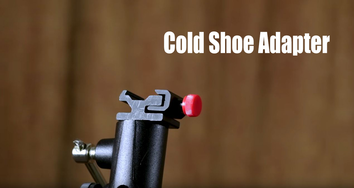 cold shoe adapter for flash